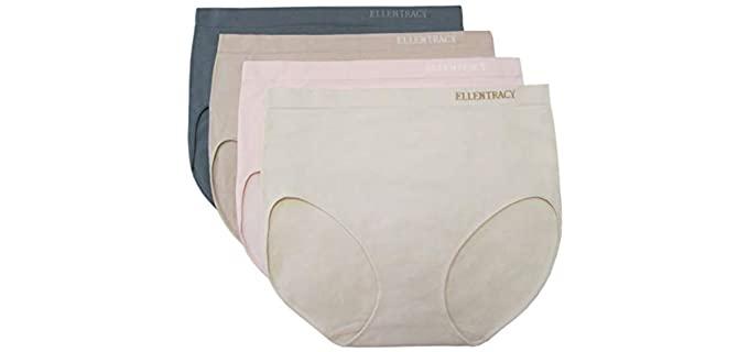 Ellen Tracy Women's Seamless - Brief Underwear for Leggings