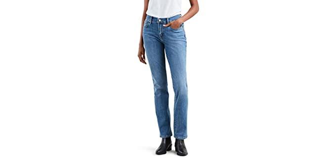 Levi's Women's 505 - Straight Cut Cowboy Boot Jeans