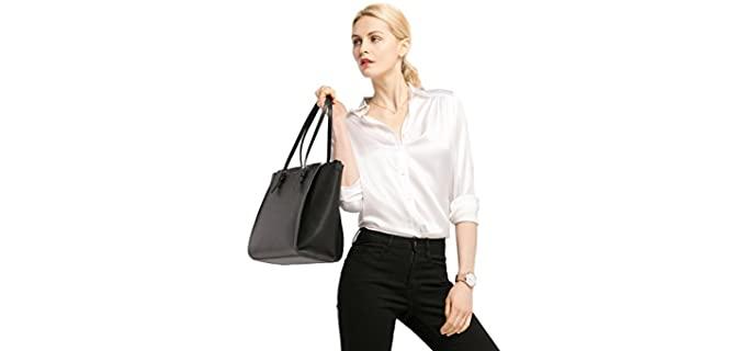 LilySilk Women's Blouse - Silk Blouse Shirt for Jeans