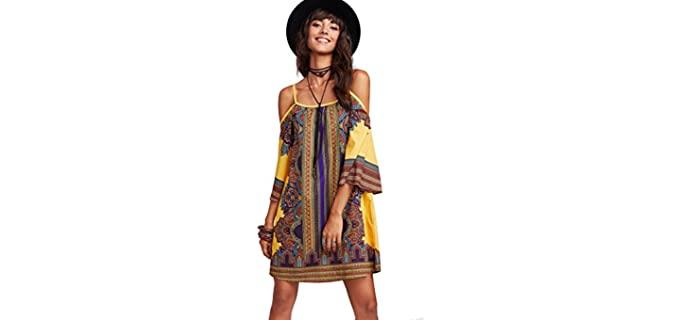 Milumia Women's Vintage Print - Dress for Beach Wear