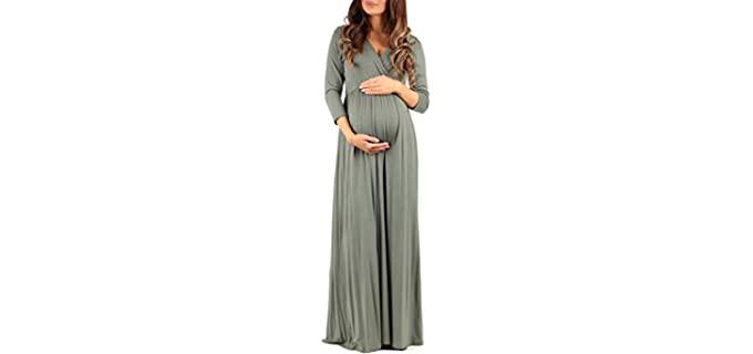 Mother Bee Women's Maternity - Pregnancy Maxi Dress