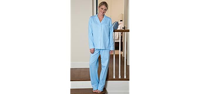 PajamaGram Women's Cotton - Warm Pajamas for Nursing