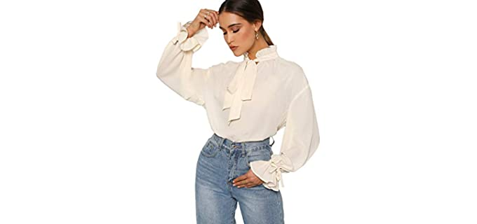 Romwe Women's Elegant - Flat Chest Shirt