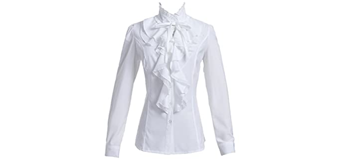 Taiduosheng Women's Lace - Shirt for a Flat Chest
