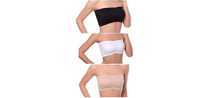 Venbond Women's Bandeau - Strapless Bra for a After Shoulder Surgery