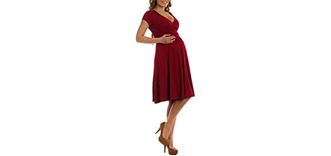 Tinhyhi Women's Jersey Flare - Pregnancy Dress