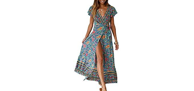 Zesica Women's Bohemian - Maxi Beach Dress