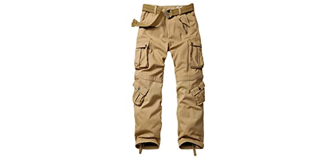 Akarmy Men's Winter Cargo Pant - Best Tactical Pants