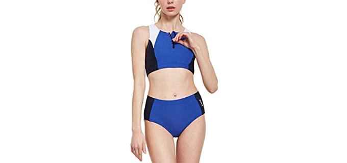 Baleaf Women's Workout - Plus Sized Chlorine Resistant Swimwear