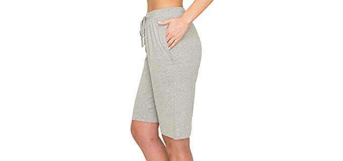 EttelLut Women's Comfy - Skinny Leg Shorts