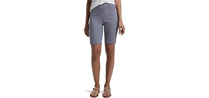Hue Women's Ultra Soft - Bermuda Shorts for a Muffin Top