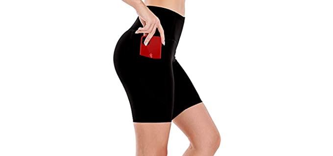 Emprella Women's Yoga - Curvy Lady Gym Shorts