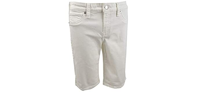 Lucky Brand Women's Bermuda - Mid- Rise Muffin Top Shorts