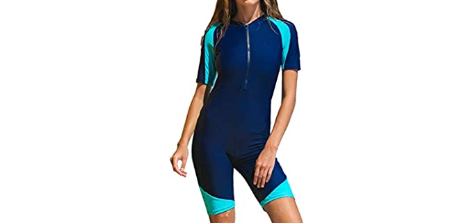 Micosuza Women's One Piece - Swimsuit for Surfing