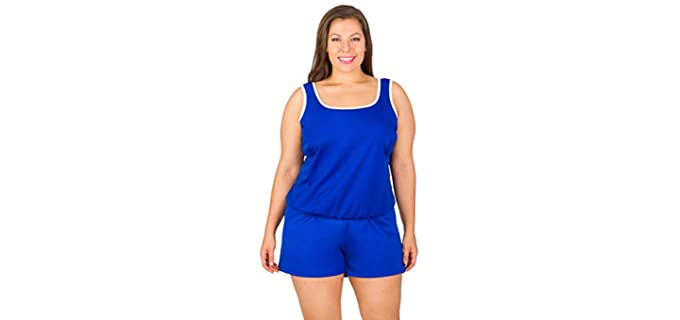 Swimsuits Just for Us Women's  - Chlorine Resistant Plus Sized Swimwear