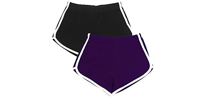 Uratot Women's Two Pack - Shorts for Pole Dancing