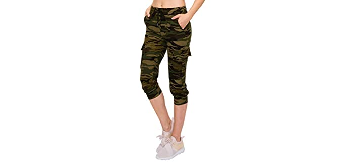 Always Women's Athletic - Jogger Shorts for Fat Knees