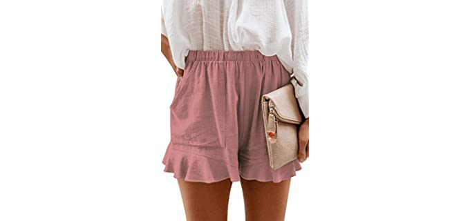 Cnfufen Women's Comfy - Lounge Shorts for Pregnancy