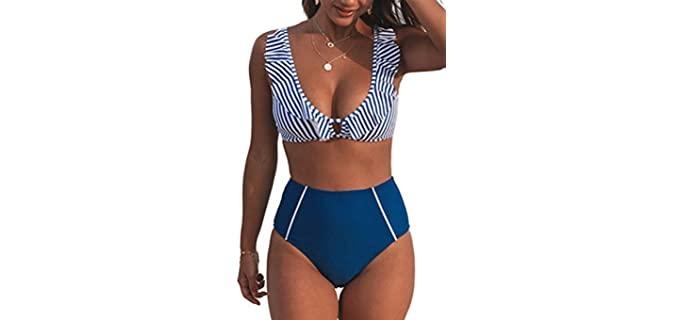 Cupshe Women's Modern - Swimsuit for Pear Shape