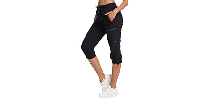 ChinFun Women's Hiking - Capri Shorts for Fat Knees