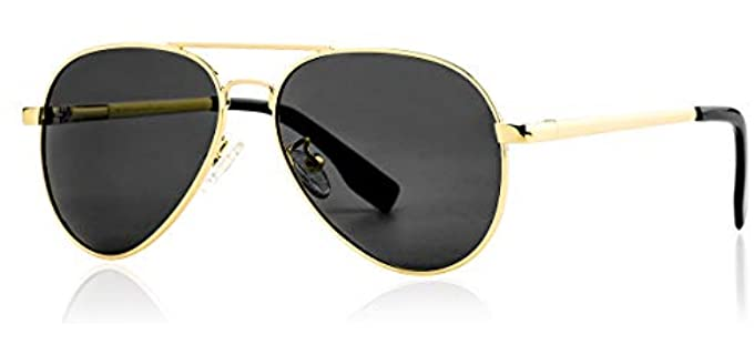 Gleyemor Women's Polarized - Small Aviator Sunglasses