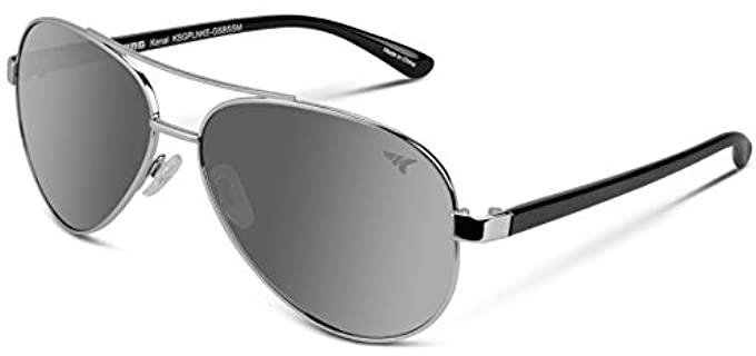 KastKing Unisex Kenai - Small Aviator Sunglasses