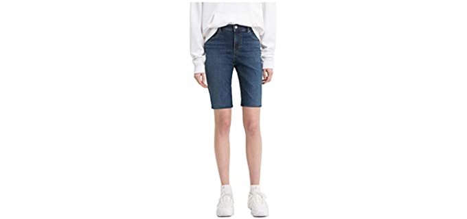 Levi's Women's Bermuda - Cotton Shorts for Fat Knees