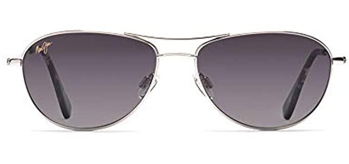 Maui Jim Women's Baby Beach - Small Beach Aviator Sunglasses