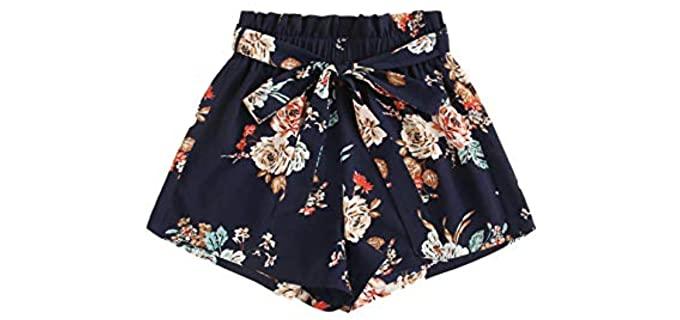 Milumia Women's Boho - Shorts for a Flat Bum