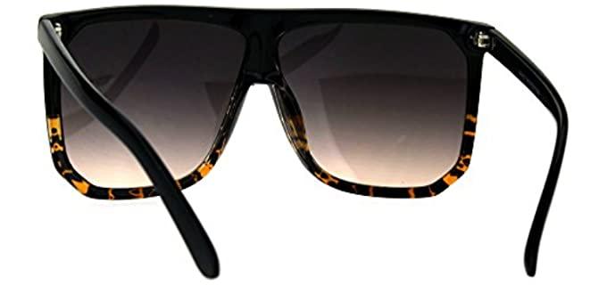Large Flat Top Sunglasses