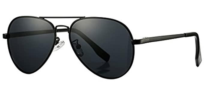 Coasion Men's Vintage - Small Aviator Sunglasses