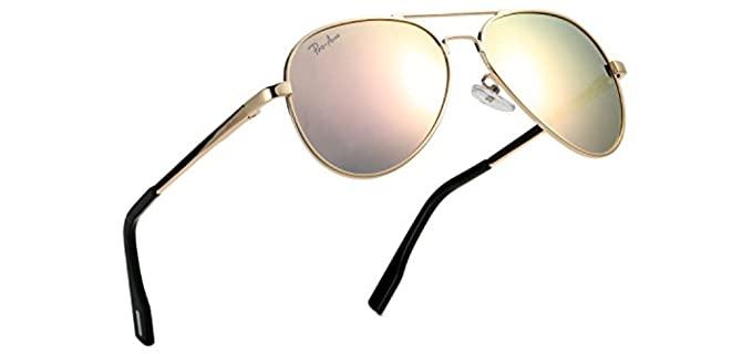 Pro Acme Men's Small Face - Aviator Sunglasses