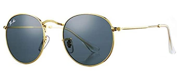 Pro Acme Women's PA3447 - Classic Small Round Metal Sunglasses