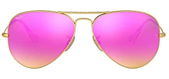Ray Ban Women's Rb3025 - Mirrored Small Aviator Sunglasses