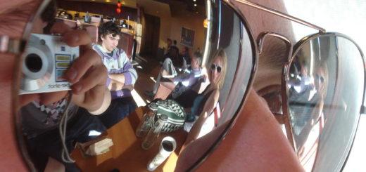 Small Mirrored Aviator Sunglasses