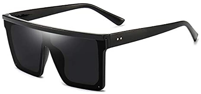 Dollger Unisex Square - Large Sunglasses with a Flat Top