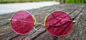 small round metal sunglasses