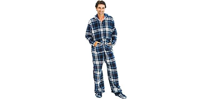 Alexander Del Rossa Men's Warm - Onesie Winter Pyjamas