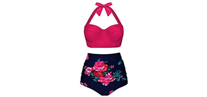 Angrella Women's Vintage - Muffin Top Bikini