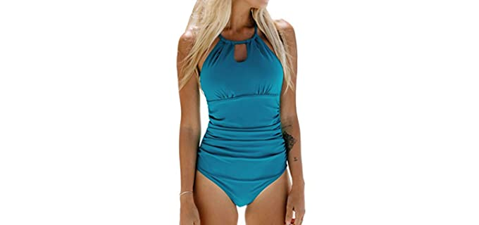 Cpshe Women's One Peice - Short Torso Swimsuit