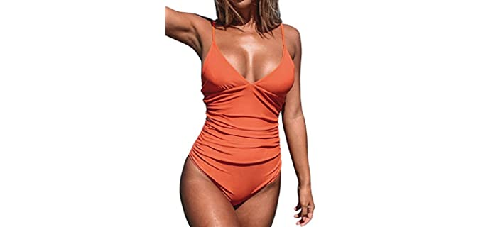 Cupshe Men's One Piece - Swimsuit to Hide a Tummy