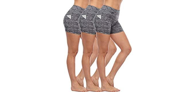 Cadms Women's High Waist - Shorts for Gym