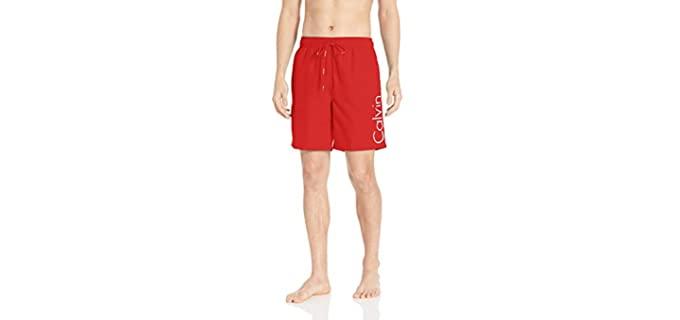 Calvin Klein Men's Quick Dry - Swim Trunks for Love Handles