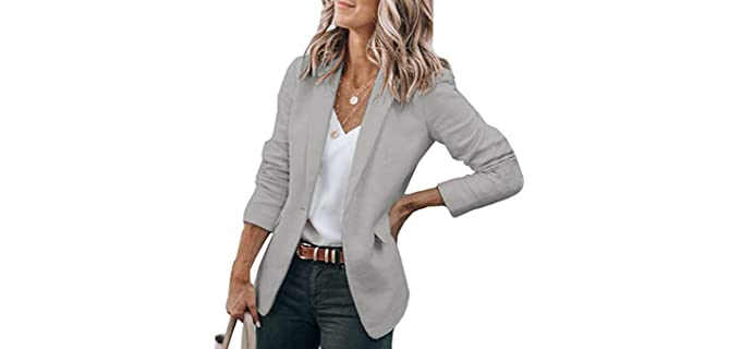 Cicy Bell Women's Casaul - Blazer for a Large Bust