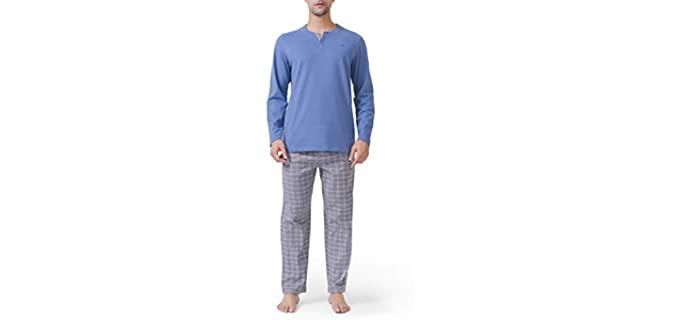 David Archy Men's Cotton - Lightweight Winter Pyjamas