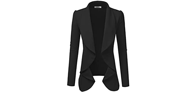 Doublju Women's Classic - Blazer for a Large Bust