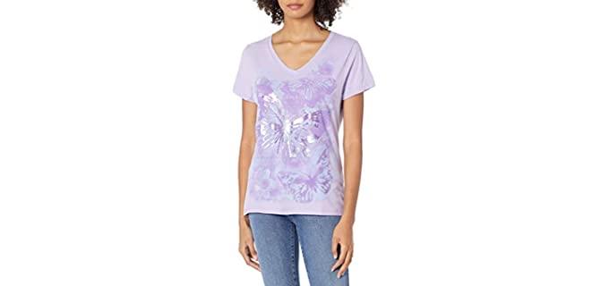 hanes Women's Short Sleeve - Flat Chest Shirt
