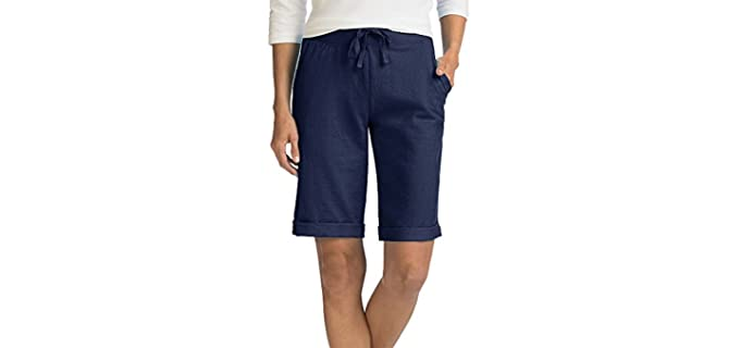 Hanes Women's French Terry - Bermuda Shorts for Skinny Legs