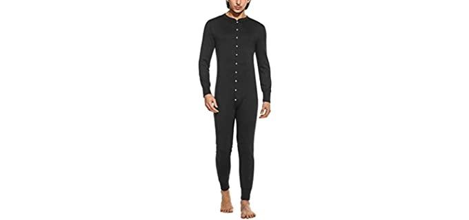 Hotouch Men's Button Down - Onesie Pyjamas