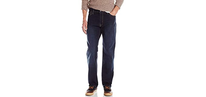 izod Men's Comofrt Stretch - Jeans for a Beer Belly